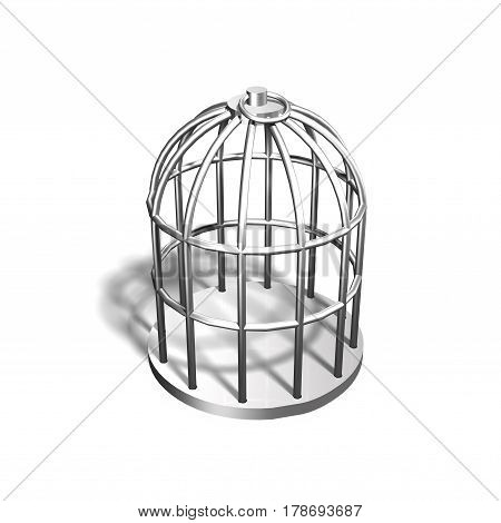 Silver Cage, 3D Illustration