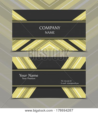 Vector business card templates. Modern design for corporate ID. Eps10 illustration