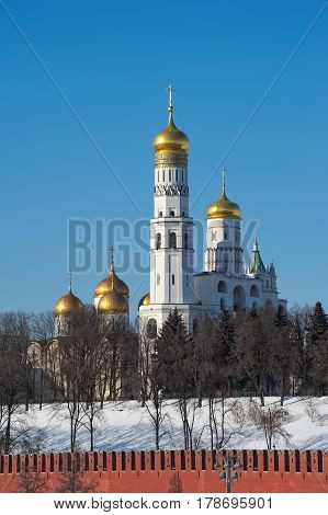 Bell Tower Ivan the Great the Assumption Belfry and the Filaret annexe Moscow Kremlin built in 1505-1508 years the object of cultural heritage