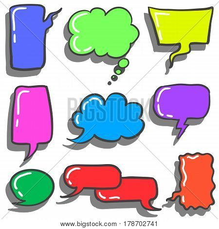 Collection stock of bubble text style vector illustration