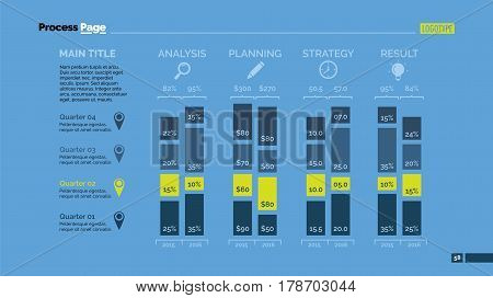 Four aspects percentage chart. Business data. Comparison, diagram, design. Concept for infographic, presentation, report. Can be used for topics like analysis, statistics, research.