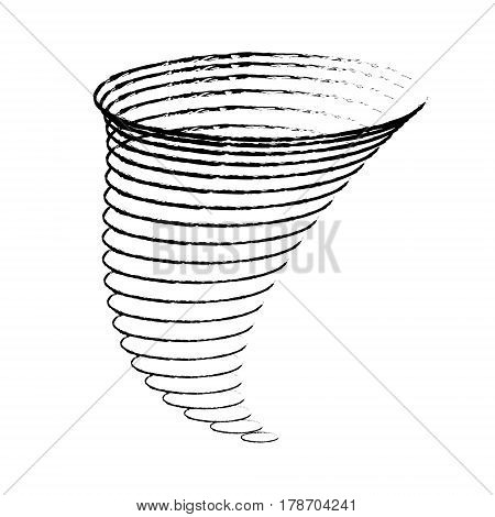 Icon cyclone tornadoes in the linear flat style. vector illustration