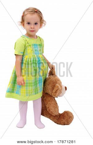Girl with the teddy bear