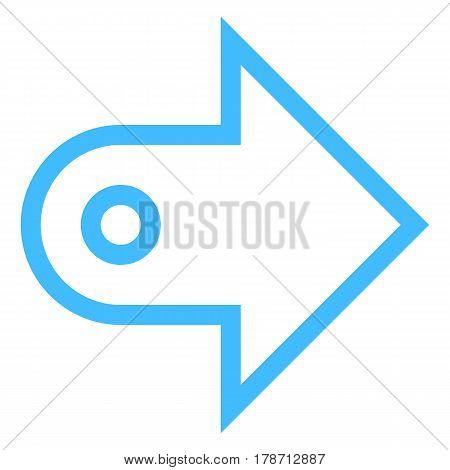 Use it in all your designs. Arrow sign direction icon navigation button pointer symbol in flat style. Quick and easy recolorable vector illustration a graphic element for design