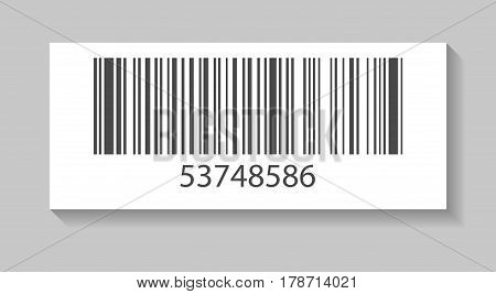 Product barcode vector illustration isolated on white background. Market mark symbol, retail sticker template.