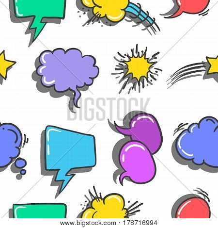 Stock of text balloon style doodles vector illustration