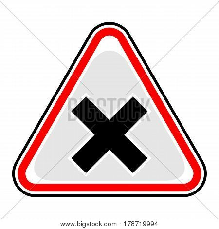 Use it in all your designs. Quick and easy recolorable vector illustration. Yellow and black triangular sticker with mark irritant sign. Triangle hazard warning danger symbol