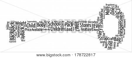 Inexpensive Backpacks Find A Bargain text background word cloud concept