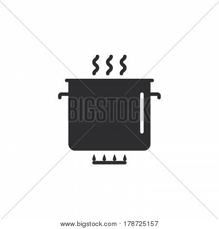 cooking icon vector saucepan solid flat sign pictogram isolated on white logo illustration