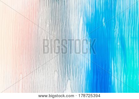 Abstract background of nail polish stains. Smooth mix of beige, grey, blue and turquoise colors free space. Creative, abstract art, design, beauty, decorative cosmetics , gradient concept