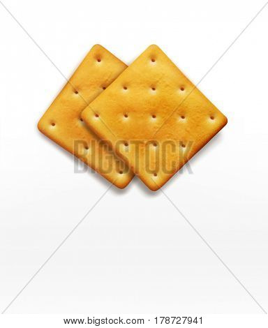 two cracker isolated on white background