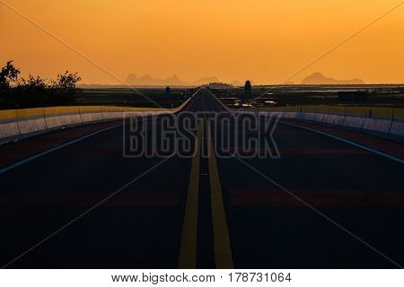 colorful road to success adn beautiful view