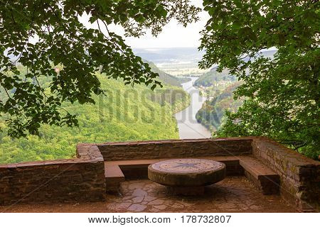 Lookout Point Cloef, View To Saar River