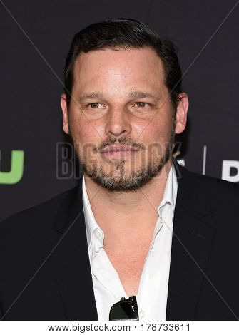 LOS ANGELES - MAR 19:  Justin Chambers arrives for the PaleyFest 2017-Grey's Anatomy on March 19, 2017 in Hollywood, CA