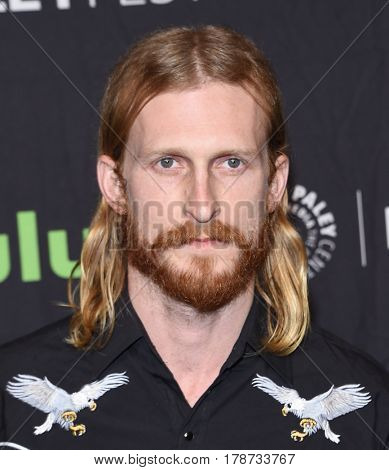 LOS ANGELES - MAR 17:  Austin Amelio arrives for the PaleyFest 2017-The Walking Dead on March 17, 2017 in Hollywood, CA