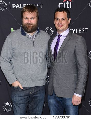 LOS ANGELES - MAR 17:  Robert Kirkman and Dave Alpert arrives for the PaleyFest 2017-The Walking Dead on March 17, 2017 in Hollywood, CA