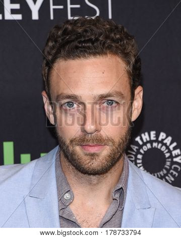 LOS ANGELES - MAR 17:  Ross Marquand arrives for the PaleyFest 2017-The Walking Dead on March 17, 2017 in Hollywood, CA