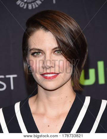 LOS ANGELES - MAR 17:  Lauren Cohan arrives for the PaleyFest 2017-The Walking Dead on March 17, 2017 in Hollywood, CA