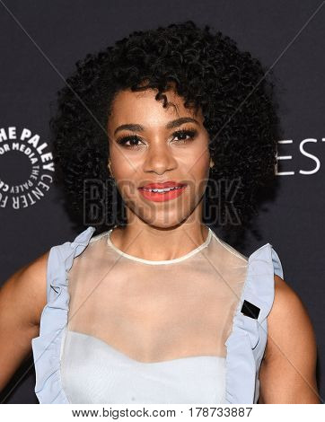 LOS ANGELES - MAR 19:  Kelly McCreary arrives for the PaleyFest 2017-Grey's Anatomy on March 19, 2017 in Hollywood, CA