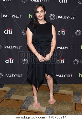 LOS ANGELES - MAR 17:  Alanna Masterson arrives for the PaleyFest 2017-The Walking Dead on March 17, 2017 in Hollywood, CA