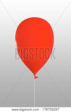 3d illustration of a red balloon isolated on white background
