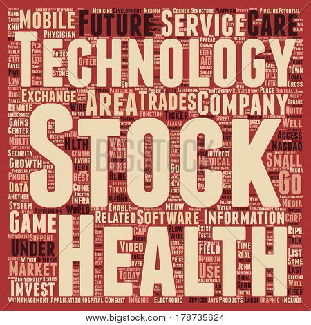 Invest in Technology Final text background wordcloud concept