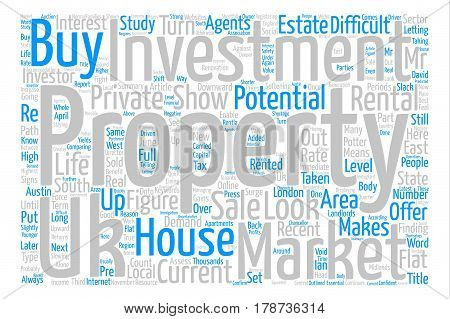 Investment property in UK text background word cloud concept