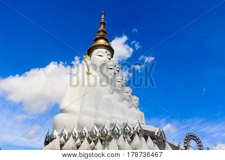 Place of worship of Buddhists The temple is a Buddhist Wat Pra That Pha Son Keaw buddism temple in Petchaboon Thailand