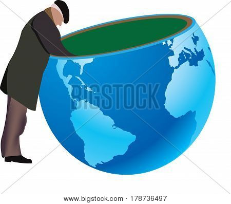 Search elderly person on earth Search elderly person on earth