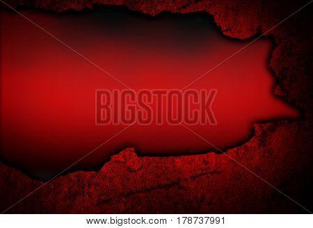 broken red wall background