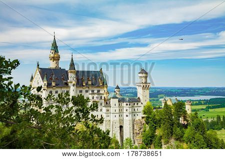 Neuschwanstein castle. One of the most famous and beautiful castle in the world