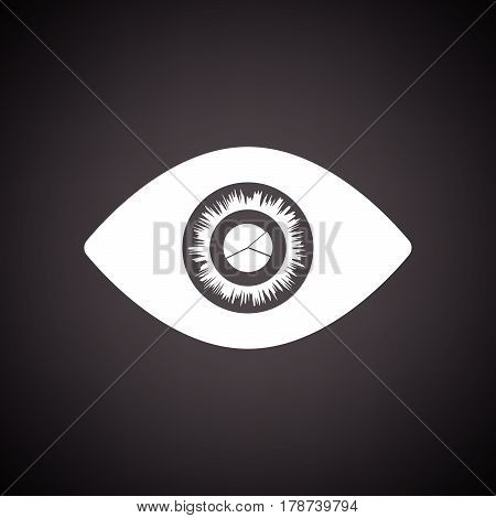 Eye With Market Chart Inside Pupil Icon