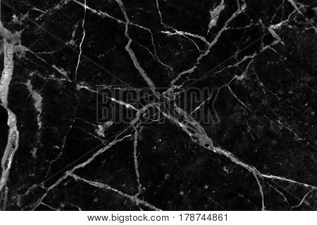 Black marble patterned texture background, Detailed real genuine marble from nature, Can be used for creating a marble surface effect to your designs or images.
