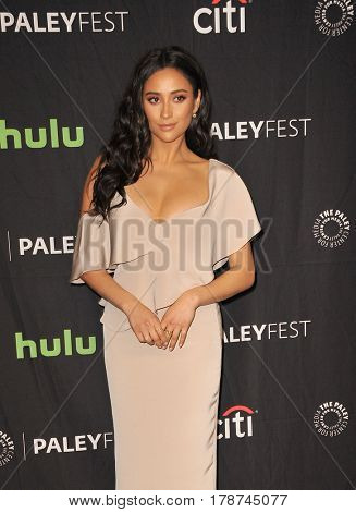 Shay Mitchell at the 34th Annual PaleyFest Los Angeles presentation of 'Pretty Little Liars' held at the Dolby Theatre in Hollywood, USA on March 25, 2017.