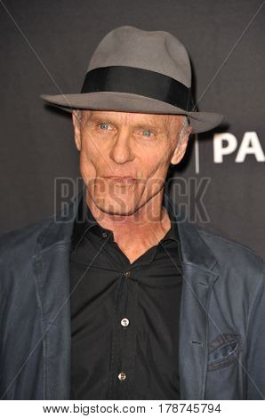 Ed Harris at the 34th Annual PaleyFest Los Angeles presentation of 'Westworld' held at the Dolby Theatre in Hollywood, USA on March 25, 2017.