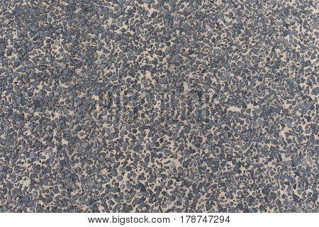 Gravel grey stone terrazzo floor background materior