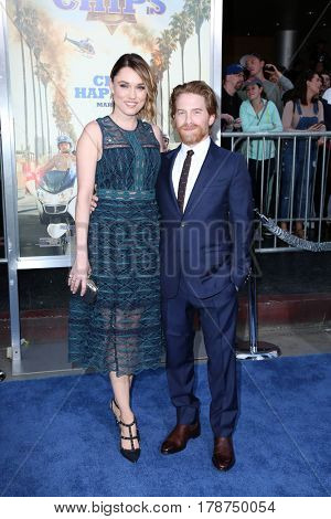 LOS ANGELES - MAR 20:  Clare Grant, Seth Green at the