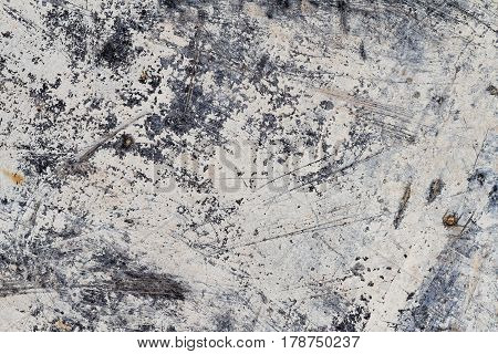 Grunge Scratched White Abstract Mineral Texture I