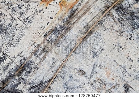 Abstract Texture on Scratched Chip Board I