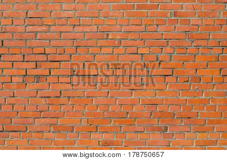 Red brick wall. Old brick wall texture. Blank background