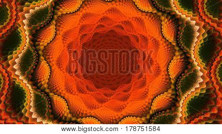 Lace. The Whirlpool. Geometric pattern. 3D surreal illustration. Sacred geometry. Mysterious psychedelic relaxation pattern. Fractal abstract texture. Digital artwork graphic astrology magic