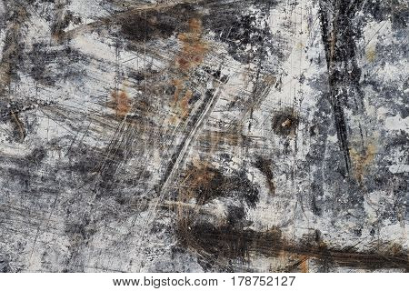 Abstract Background Texture in White and Brown on Black I