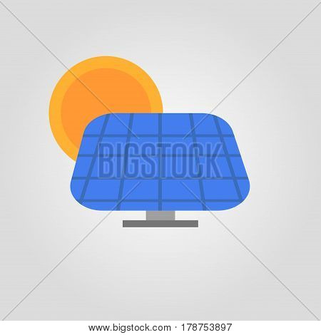 solar pannel sun eco light energy colorful icon