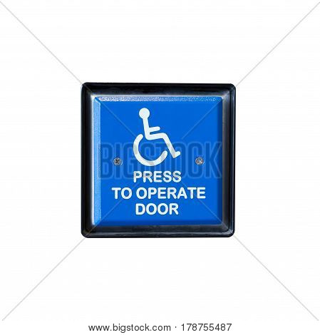 Handicapped Access Entrance Pad On A Wall.