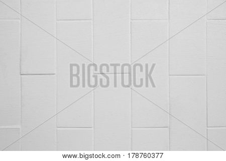 Square white brick wall background and texture