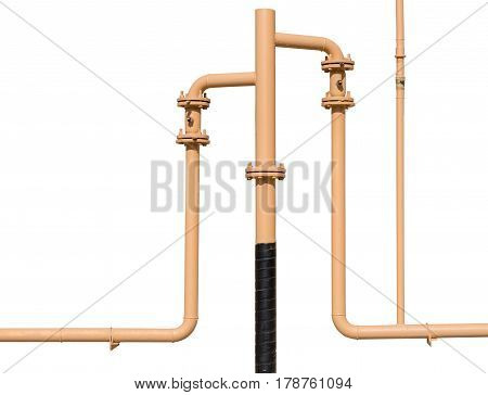 the new industrial pipes on white background