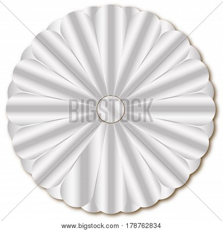 The imperial seal of Japan in Silver over a white background