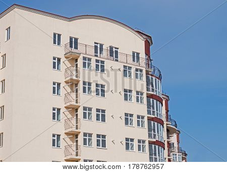 Modern new executive apartment building in Kerch