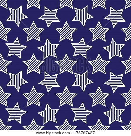 Abstract Seamless Pattern With Stars
