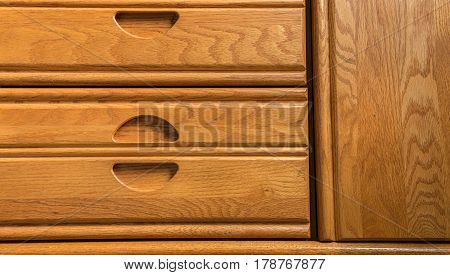 nice amazing closeup abstract view of wooden dresser background